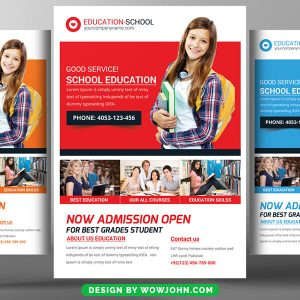 Educational Flyers Psd Template Free Download