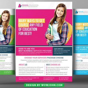 Free School Admission Open Flyer Psd Template