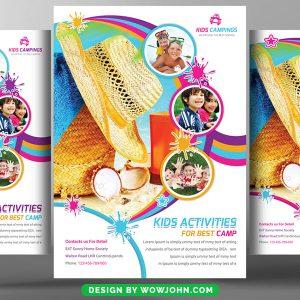 Free Kids Summer Camp Flyer Template Psd