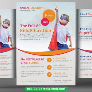 Free Kids Playgroup Psd Flyer Template