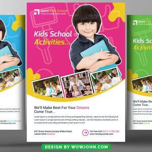 Free Kids School Activities Psd Flyer Template