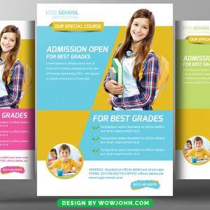Free School Education Study Psd Flyer Template