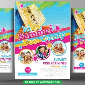 Free Kids Summer Camp Fun Psd Flyer Template