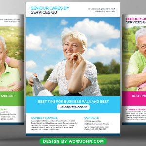 Free Senior Care Homes Psd Flyer Template