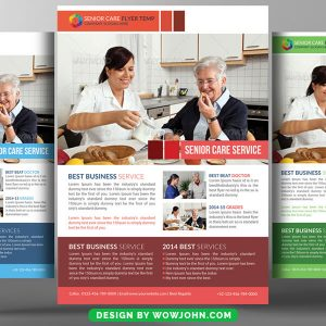 Free Senior Care Business Psd Flyer Template