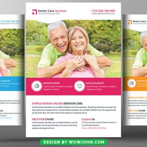 Free Old Age Care Center Psd Flyer Template