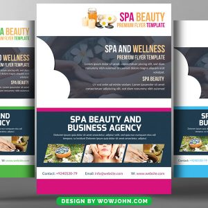 Free SPA Beauty Psd Flyer Template