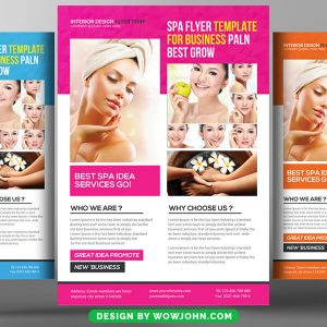 Free SPA Beauty Fashion Psd Flyer Template