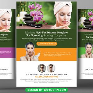 Free Beauty Salon and Spa Psd Flyer Template