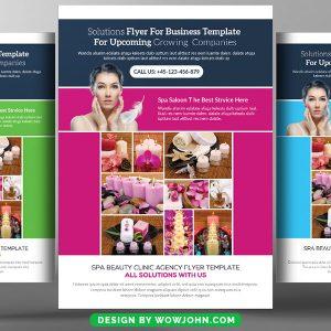 Free Wellness Spa Psd Flyer Template