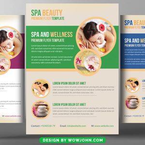 Free Massage Beauty Spa Parlor Psd Flyer Template