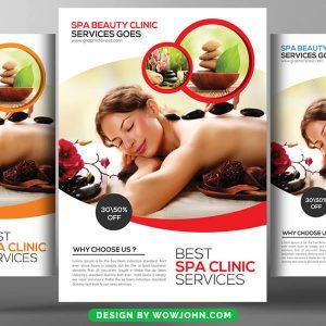 Free Massage Beauty Spa Flyer Template PSD