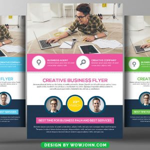 Free Tourism Business Psd Flyer Template