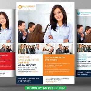 Free Customer Service Psd Flyer Template
