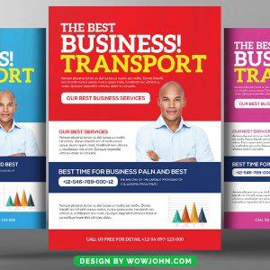 Free Transport Business Psd Flyer Template