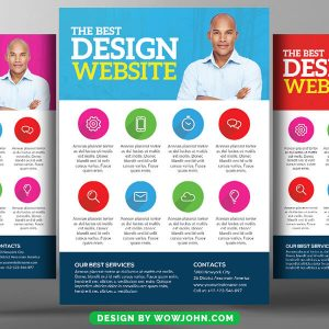 Free Design Agency Psd Flyer Template