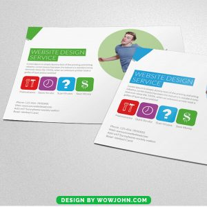 Free Web Development Psd Flyer Template