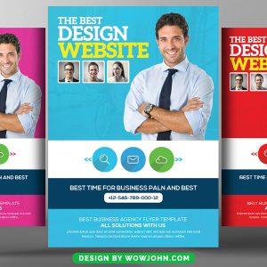 Free Web Design Service Psd Flyer Template