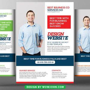 Free Web Designer Psd Flyer Template