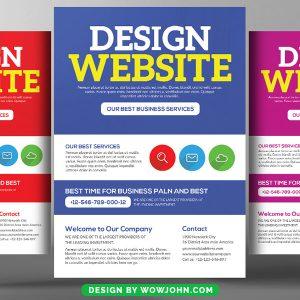Web Designer Developer Psd Flyer Template