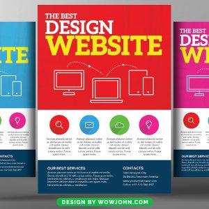 2022 Web Designer Psd Flyer Template