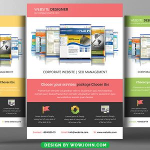 Free Online Web Courses Psd Flyer Template