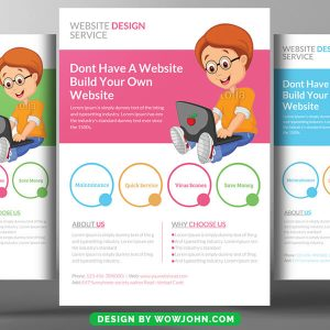 Web Development Course Psd Flyer Template