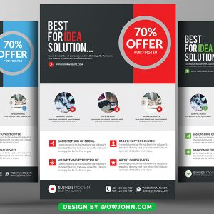 Advertising Company Flyer Free Psd Template
