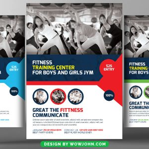Free Fitness Week Psd Flyer Template