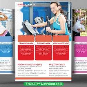 Free Fitness Sport Psd Flyer Template