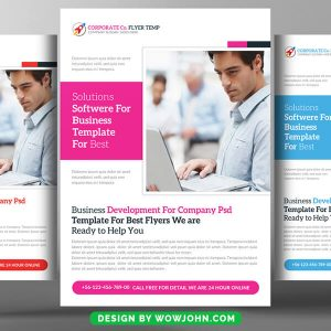 Free Corporate Marketing PSD Flyer Template