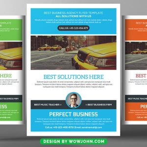 Free Soft Corporate Flyer PSD Template