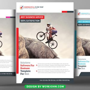 Free Corporate Strategy Flyer PSD Template