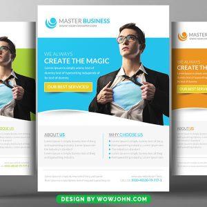 Free Creative Corporate Flyer PSD Template