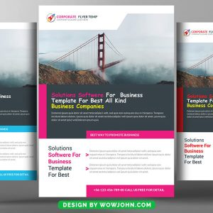 Business Company Free Flyer PSD Template