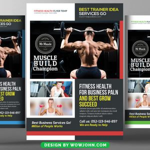 Free Body Fitness Session PSD Flyer Template