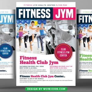 Gym Fitness Flyer Psd Template