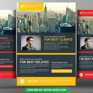 Free Conference Invitation Flyer Psd Template