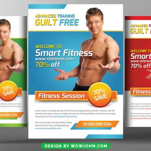 Free 2022 Fitness Gym Flyer Psd Template