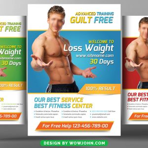 Free Weight Loss Flyer Psd Template
