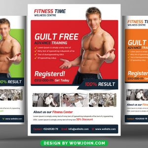 Free Creative Fitness Gym Psd Flyer Template