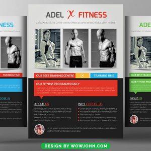 Free Women Fitness Psd Flyer Template