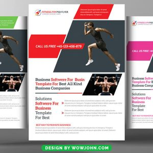 Free Fitness and Gym Psd Poster Template