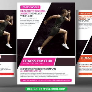 Free Aerobic Poster Flyer Psd Template