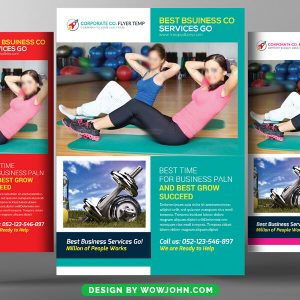Free Fitness Classes Psd Flyer Template