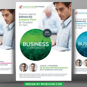 Free Financial Consulting Psd Flyer Template