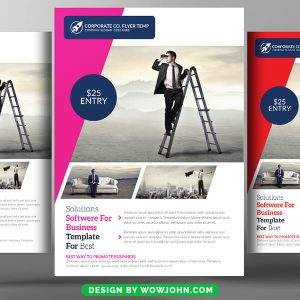 Free Contest Announcement Flyer Psd Template