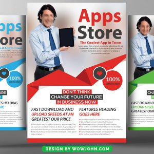 Apps Store Promotion Psd Flyer Template