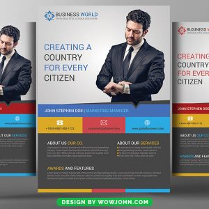 Free Black Business Flyer Psd Template