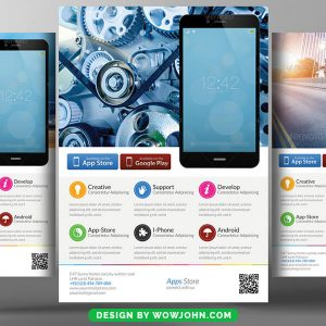 Free Mobile App Flyer Design Psd Template